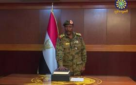 FILE: A grab from a broadcast on Sudan TV shows Lieutenant General Abdel Fattah al-Burhan Abdulrahman taking oath on 12 April 2019 as chief of the new military council, in the capital Khartoum. Picture: AFP