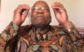 A screengrab of Jacob Zuma making a point in his latest Twitter video on 2 January 2019.