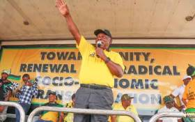 President Cyril Ramaphosa addresses crowds on the campaign trail on 17 March 2019 in Mahikeng, North West. Picture: @MYANC/Twitter