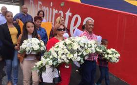 FILE: The families of Rosswin Nation and Mduduzi Thomo laid wreaths of remembrance at the Ellis Park Stadium, 15 years since they lost their loved ones in SA's biggest stadium disaster. Picture: EWN