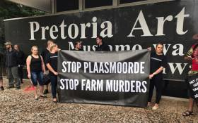 FILE: Demonstrators marched to the Union Buildings against farm murders. Picture: Christa Eybers/EWN