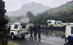 Police monitoring the situation in Hout Bay after a violent protest by residents. Picture: Graig-Lee Smith/EWN.