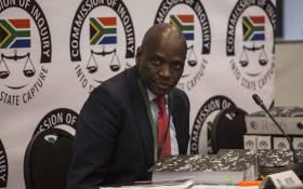 Former SABC COO Hlaudi Motsoeneng at state capture commission on 10 September 10, 2019. Picture: Abigail Javier/EWN.