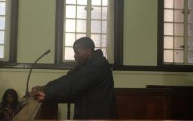 Mohamed Mwela appeared in the Johannesburg Magistrates Court on 10 June 2019 for stabbing 16-year-old Daniel Bakwela to death outside Forest High School. Picture: Robinson Nqola/EWN.