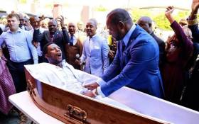 The 'miracle' performed at Alleluia Ministries International. Picture: Alph Lukau.