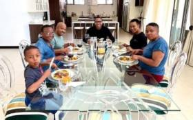 Communications Minister Stella Ndabeni-Abrahams seen having lunch with Mduduzi Manana at his residence in Fourways while the country is under COVID-19 lockdown. Picture: Instagram
