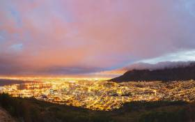 Cape Town City CBD by night lights on 123rflocal 123rfpolitics 123rf