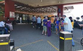 Medics at Steve Biko Academic Hospital in Pretoria queuing for COVID-19 jabs. Picture: Supplied.