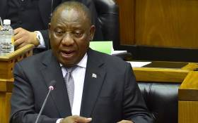 President Cyril Ramaphosa replying to questions in the National Assembly in Parliament on 6 November 2018. Picture: GCIS