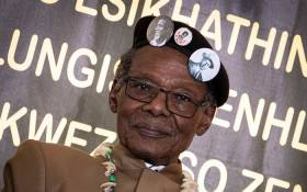 Outgoing IFP leader Mangosuthu Buthelezi delivered the keynote address at Prince Mangosuthu stadium in uLundi where the party is holding its elective conference.  Picture: Xanderleigh Dookey/EWN