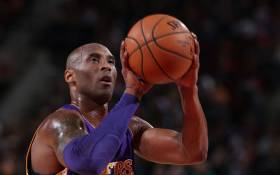 FILE: Los Angeles Lakers Kobe Bryant takes a shot during free play. Picture: AFP.