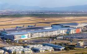 A general view of Cape Town International Airport. Picture: @WesternCapeGov/Twitter