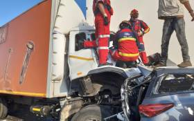 Four people were killed and at least 20 others injured on 19 May 2019 following a multiple-vehicle collision on the N1 Highway between the Grasmere toll plaza and the N12. Picture: @_ArriveAlive/Twitter