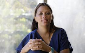 Laeeka Philander works in the COVID-19 High Care Unit at Tygerberg Hospital and says depression, anxiety and fatigue are common. Picture: Eyewitness News