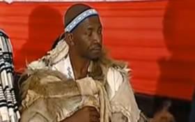 A screengrab of Mpendulo Sigcawu at his coronation as AmaXhosa king on 15 May 2015.