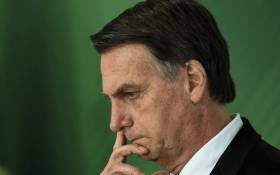 FILE: Brazilian president Jair Bolsonaro. Picture: AFP