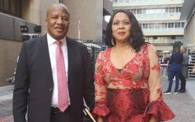 Jackson Mthembu and his wife Thembi at Sona 2020. Picture: Jackson Mthembu.