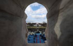 A general view as attendees arrive to the inauguration of US President-elect Joe Biden on the West Front of the US Capitol on 20 January 2021 in Washington, DC. Picture: Tasos Katopodis/Getty Images/AFP