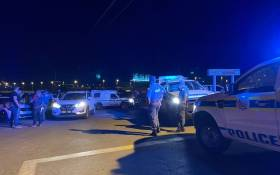 Police seen outside the St George's hotel where Defence Minister Thandi Modise, Minister in the Presidency Mondli Gungubele and Deputy Minister of Defence Thabang Makwetla  were held hostage by former liberation combatants on 14 October 2021. Picture: Veronica Mokhoali/Eyewitness News.