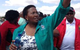 FILE: Gauteng Sports and Recreation MEC Faith Mazibuko addresses crowd in Bekkersdal. Picture: EWN