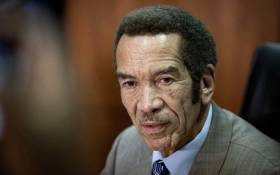 Former Botswana President Ian Khama during a press conference in Johannesburg on 12 December 2019. Picture: Sethembiso Zulu/EWN.