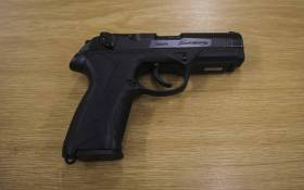 A police service pistol. Picture: Cindy Archillies/EWN