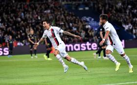 PSG's Angel Di Maria (left) celebrates his goal against Real Madrid in their Champions League match on 18 September 2019. Picture: @PSG_English/Twitter