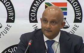 A screengrab shows owner of NEO solutions Vivien Natasen at the state capture inquiry on 12 July 2019. Picture: SABCDigitalNews/Youtube