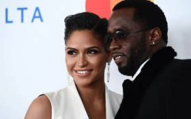 FILE: Singer and model Cassie Ventura (L) and Rap mogul P Diddy (aka Sean Combs) arrive for the traditionnal Clive Davis party on the eve of the 60th Annual Grammy Awards on January 28, 2018, in New York. Picture: AFP.