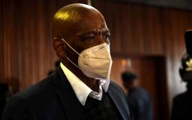 Suspended ANC secretary general Ace Magashule appeared at the Bloemfontein Magistrates Court on 11 August 2021 on charges of money laundering, theft, and corruption relating to a R250 million asbestos project in the Free State. Picture: Melinda Stuurman/Pool.