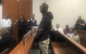 Luyanda Botha, who stands accused of raping and murdering 19-year-old student Uyinene Mrwetyana, appears at Wynberg Magistrates Court on 5 November 2019. Picture: Lizell Persens/EWN