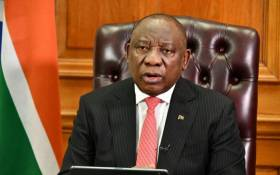 President Cyril Ramaphosa addresses the nation on 23 July 2020. Picture: GCIS