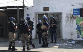 Police management says officers will remain on high alert in Samora Machel in Philippi, Western Cape to prevent any flare-ups of violence. Picture: Kevin Brandt/EWN