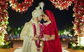 Newlyweds Priyanka Chopra and Nick Jonas. Picture: @Priyankachopra/Twitter