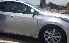 Two people were killed and a third person critically wounded in a shooting on the Xavier Street off-ramp near Gold Reef City, Johannesburg on 2 December 2020. Picture: @salaamedia via @EWNTraffic/Twitter