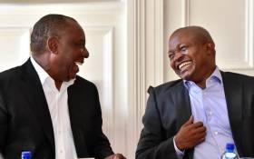 President Cyril Ramaphosa and his Deputy David Mabuza. Picture: GCIS.