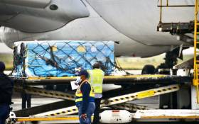 South Africa's second tranche of Johnson&Johnson COVID-19 vaccines has touched down at OR Tambo International Airport on Saturday, 27 February 2021. Picture: GCIS.