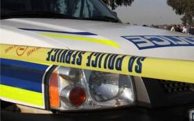 FILE: A South African Police Service van at a crime scene. Picture: Twitter @SAPoliceService