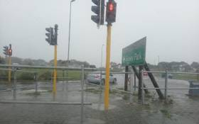 FILE: A flooded intersection in Grassy Park following heavy rain in Cape Town. Picture: Zunaid Ishmael/Eyewitness News