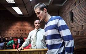 Nicholas Ninow, the man accused of raping a seven-year-old girl in a restaurant bathroom in Pretoria, appears in the Magistrates Court in Pretoria on 5 March 2019. Picture: Abigail Javier/EWN.