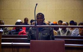 FILE: Mohlomohi Bafokeng makes his first appearance in the Vanderbijlpark Magistrate Court on charges of kidnapping on 25 September 2019. Picture: Kayleen Morgan/EWN