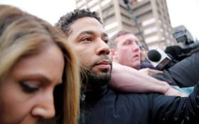 FILE: Empire actor Jussie Smollett leaves Cook County jail after posting bond on 21 February 2019 in Chicago, Illinois. Picture: AFP.