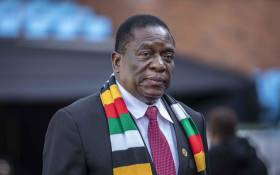 FILE: Zimbabwean president Emmerson Mnangagwa at Loftus stadium for the inauguration of Cyril Ramaphosa as the sixth democratically elected president. Picture: Abigail Javier/EWN.