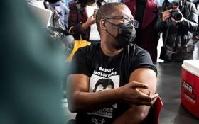 Gauteng Education MEC Panyaza Lesufi gets his coronavirus vaccine shot at the Rabasotho community hall in Tembisa on 23 June 2021. Picture: Xanderleigh Dookey Makhaza/Eyewitness News