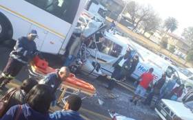 Four people were killed and 15 others injured in two separate collisions on the M1 north near the Xavier off-ramp in Ormonde, Johannesburg. Picture: @Givo_38/Twitter.