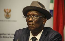 Minister of Police, Bheki Cele addressed the media on security detail and police deployment at the FNB Stadium during the Global Citizen Festival. Picture: Cindy Archillies/EWN.