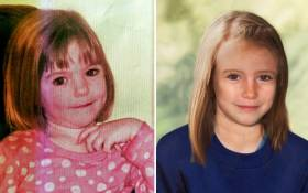 A combination of images created on April 25, 2012 shows an undated handout picture of missing British girl Madeleine McCann taken when she was three years-old (L) and a computer generated handout image released by the Metropolitan Police Service (MPS) on April 25, 2012 showing an age progression picture of how police believe Madeleine would look like today (R), aged 9. Picture: AFP.
