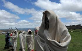 FILE: A picture of young boys from the Xhosa tribe attending a traditional initiation school in Libode in the Eastern Cape province. Picture: AFP.