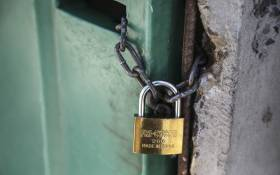 FILE: A communal toilet in Khayelitsha is shut with a lock. Picture: EWN