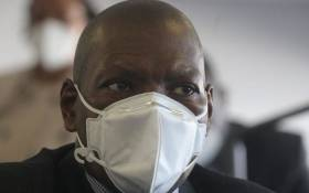 Health Minister Zweli Mkhize on 20 July 2020 inspects the Nasrec field hospital's state of readiness amidst the province's increase in coronavirus cases. Picture: Kayleen Morgan/EWN